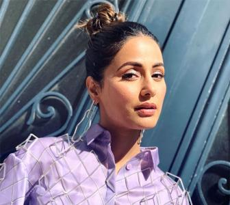 Hina Khan's lovely lavender look!