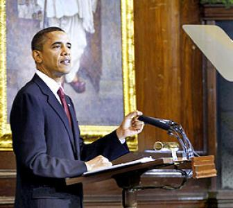 The critical points that Obama made in Parliament