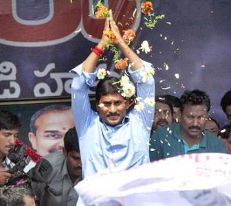 IMAGES: Overwhelming support for Jagan's seven-day fast