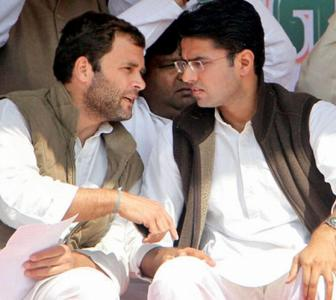 Ahead of assembly session, Pilot meets Rahul, Priyanka