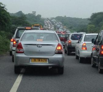 Capital snarl! Sea of traffic hits Delhi roads