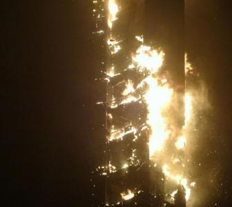 Photos: In Dubai, one of world's tallest residential buildings on fire