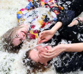 PHOTOS: Feathers fly on world Pillow Fight Day
