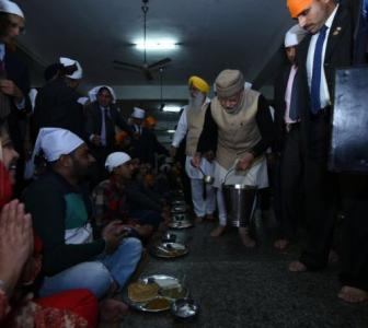PHOTOS: PM serves langar at Golden Temple