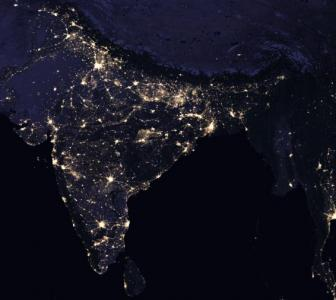 This is how India looks from space at night