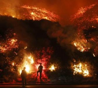 'It burns and it keeps burning': Wildfires blaze across California