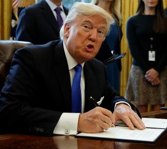 In 2 pen strokes, Trump will shut the door on immigrants