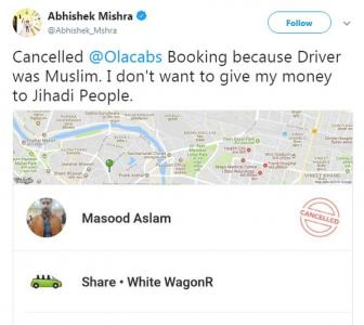 We don't discriminate: Ola to man who refused to ride with Muslim driver