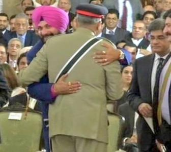 'Hugging the Pakistani army chief is anti-national'