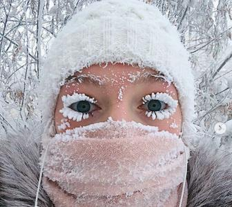 The Russian village where even eyelashes freeze!