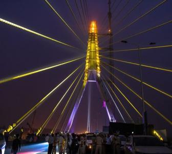 PHOTOS: Delhi's Signature bridge opens for public