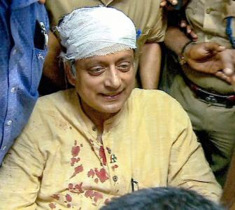 Was Tharoor's mishap an accident or foul play?