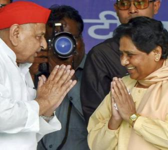 After 24 years, Mayawati shares stage with Mulayam