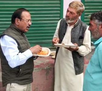 PHOTOS: Doval shares a meal with Kashmiris in Shopian