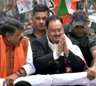 BJP's Nadda leads march in support of CAA in Kolkata