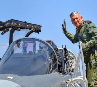 Army chief flies in home-grown Tejas, calls it 'wonderful' aircraft