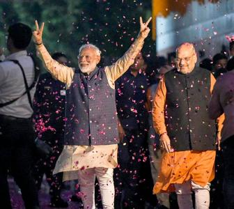 2 steps East, 2 steps South helped BJP cross 300 mark