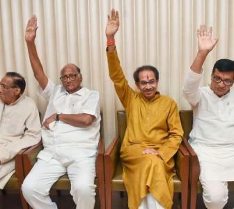 Sena-NCP-Cong release CMP, to waive farmers' loans