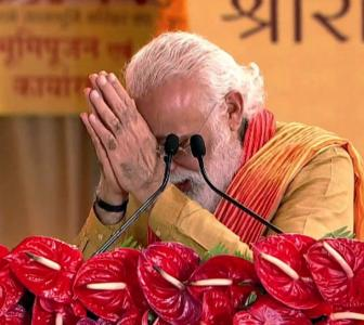 Wait of centuries has ended: PM after 'bhoomi pujan'