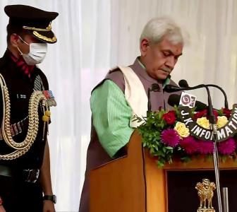 Manoj Sinha sworn in as Jammu and Kashmir LG