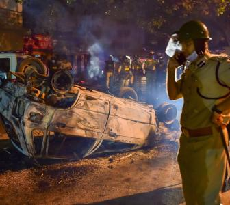 Riot-hit areas of Bengaluru resemble war zone