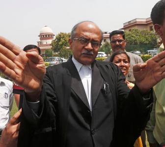 SC finds Bhushan guilty of contempt for two tweets