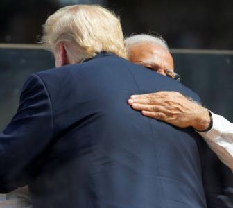 With 6 hugs, Modi, Trump show off their chemistry