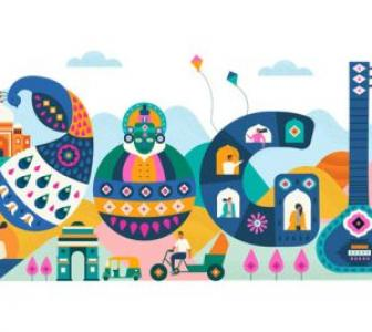 Google's doodle honours India's diversity for R-Day