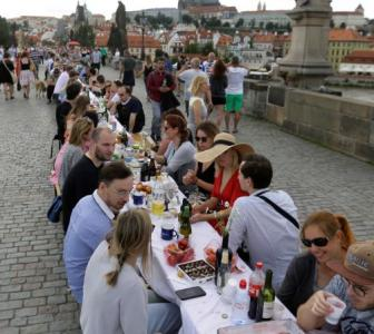 Prague celebrates end of COVID-lockdown with a party!