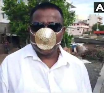 Pune man gets mask made of gold worth Rs 2.89 lakh