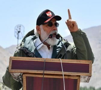 PM addresses soldiers in Ladakh, hails their bravery