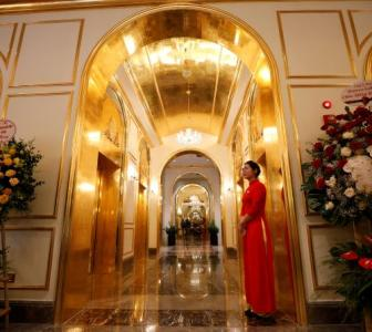 Inside world's first gold-plated hotel in Vietnam