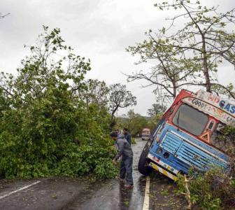 Trees and poles fall as 'Nisarga' makes landfall