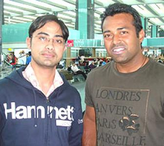 Spotted: Leander Paes at Bangalore airport
