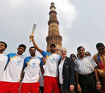 2014 CWG: QBR goes to Qutub Minar, India leg ends