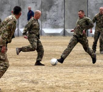 PHOTOS: Soldiers in Afghanistan play soccer in memory of WW1 truce