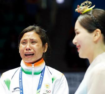Asian Games: Sarita Devi given 'strong warning' after medal protest