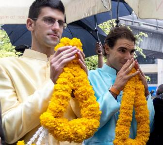 PHOTOS: Nadal and Djokovic go sightseeing in Bangkok