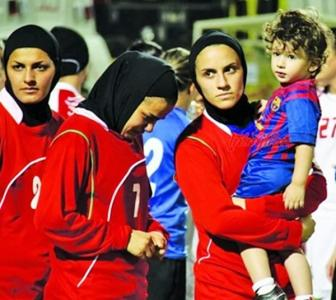 Iranian women's football captain banned... by husband!