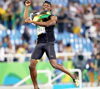 Olympic mission accomplished! 9 finals, 9 gold medals for Bolt!