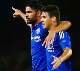 Chelsea's Oscar denies training ground bust-up with Costa