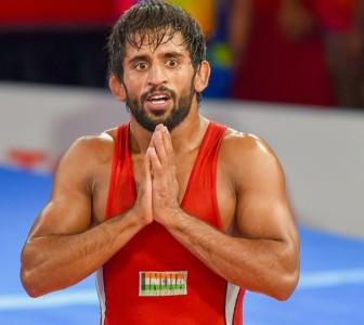 Indian grappler Bajrang is on top of the World!