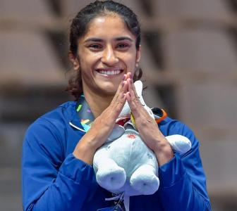 Congratulate Vinesh on her historic wrestling gold