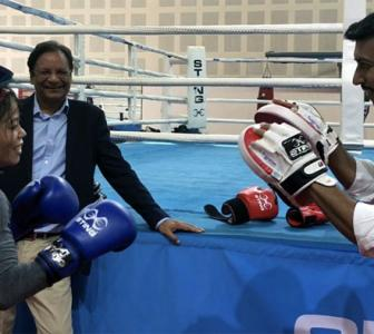 WATCH: Mary Kom trades punches with Sports minister Rathore