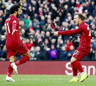 EPL PHOTOS: Mane, Salah propel Liverpool to top