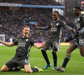 EPL PICS: Leicester beat Villa to break club record