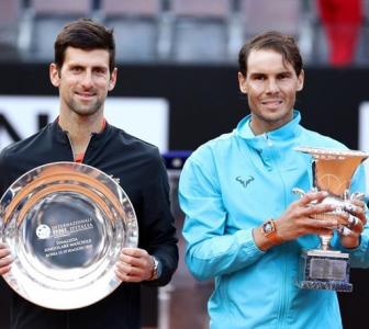 Nadal fends off Djokovic for ninth Rome title