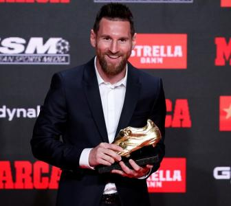 Messi receives record sixth European Golden Shoe
