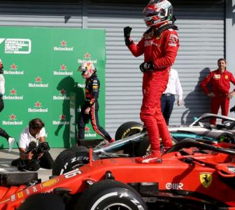 Leclerc sparks Ferrari celebrations with Italian GP win