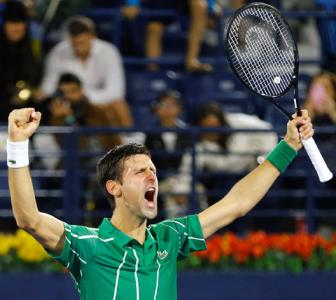 Djokovic stages great escape to enter Dubai final